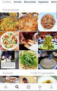 instagram ricerca hashtag