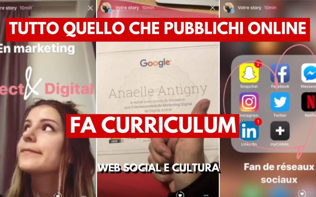 Curriculum Con Le Instagram Stories