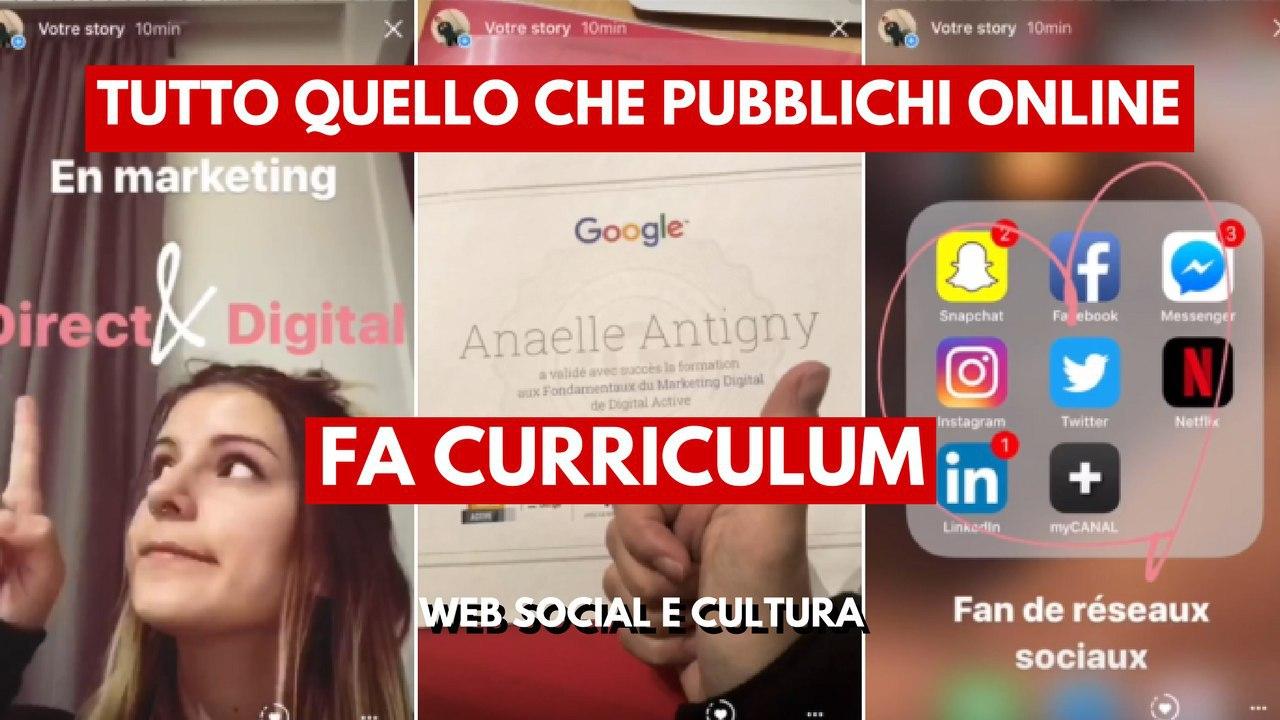 Curriculum Con Le Instagram Stories