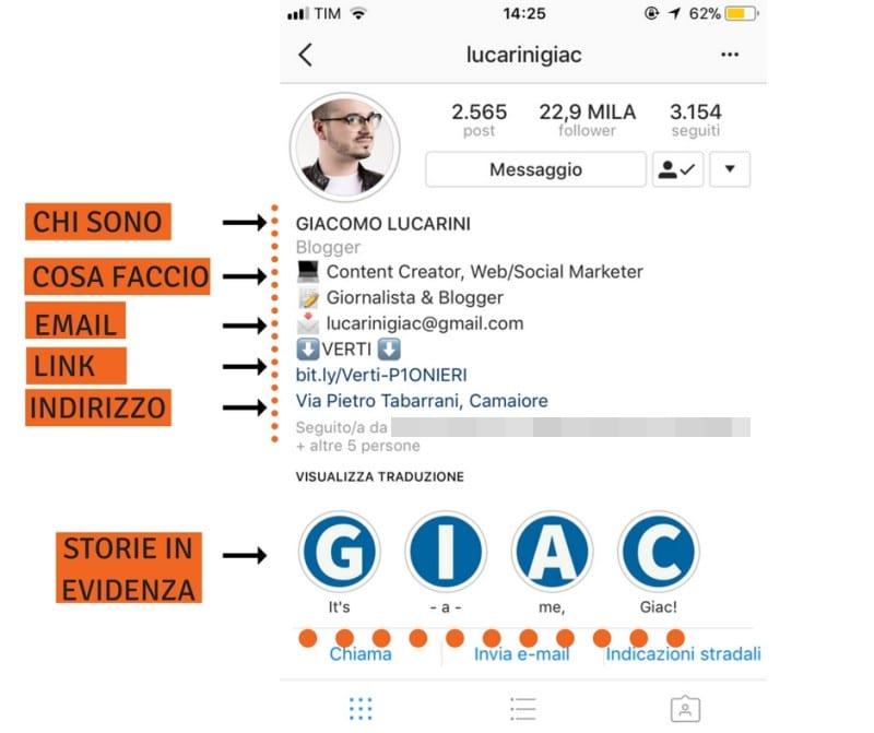 L'importanza della bio per l'instagram marketing