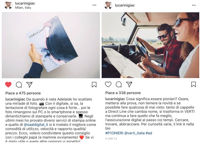 Didascalie e foto dalla qualità narrativa per Instagram marketing