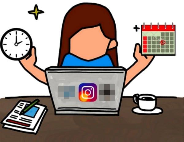 Schedule algoritmo di instagram