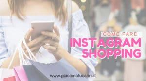 instagram shopping guida