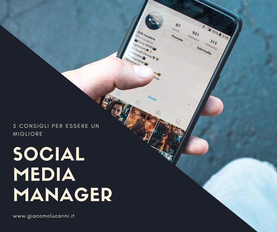 CONSIGLI PER SOCIAL MEDIA MANAGER