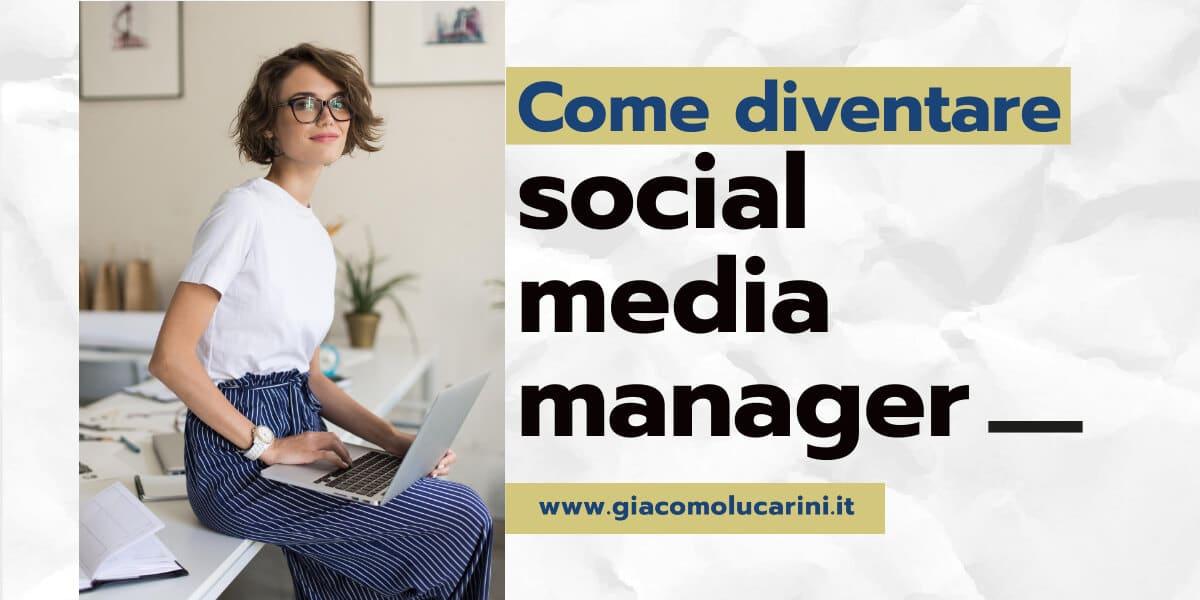 come diventare social media manager cover